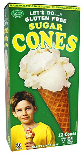 Let's Do - Gluten Free Sugar Cones - 4.6 oz (pack of 2)