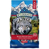 Blue Buffalo Wilderness Snake River Grill High Protein, Natural Dry Dog Food with Trout, Venison & Rabbit 4-lb