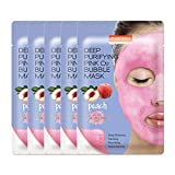 PUREDERM Deep Purifying Pink O2 Bubble Mask 0.88oz x 5ea / Korean...