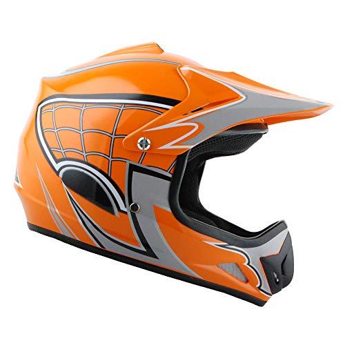 Casco De Moto Naranja  marca WOW! EZ FINISHES
