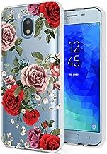 BAISRKE Slim Shockproof Rose Floral Soft Flexible TPU Back Cove Case for Samsung Galaxy J3 2018/Express Prime 3/J3 Star/J3 Prime 2/Amp Prime 3/Eclipse 2/J3 Aura/Galaxy Achieve