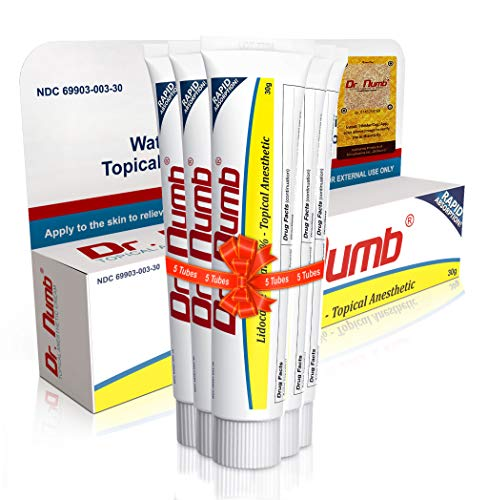 Dr. Numb 4% Lidocaine Topical Anesthetic Numbing Cream for Pain Relief, Maximum Strength with Vitamin E for Real Time Relieves of Local Discomfort, Itching, Pain, Soreness or Burning - 30g (5)