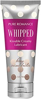 Whipped Berry Crème Brulee Creamy Lubricant by Pure Romance   Personal Lubricant for all Couples   Safe Lightweight Gel Lubricant
