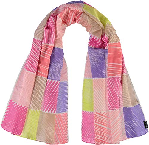FRAAS Damen-Schal mit einzigartigem Druck - ideal im Frühling & Sommer - stylisches Mode-Accessoire Koralle