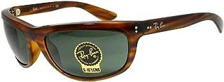 Ray-Ban RB4089 Balorama Sunglasses,62mm,Stripped Red Havana/Green
