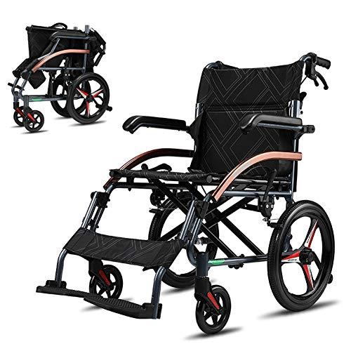 Sport-rolstoel, lichtgewicht, inklapbaar, zelfrijdend, frame van aluminium, opvouwbaar, met pedalen voor hand- en voetrem, armleuningen kunnen omhoog worden geklapt.
