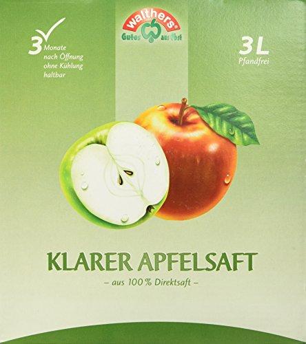 Walthers Apfelsaft Direktsaft klar (1 x 3 l Saftbox)