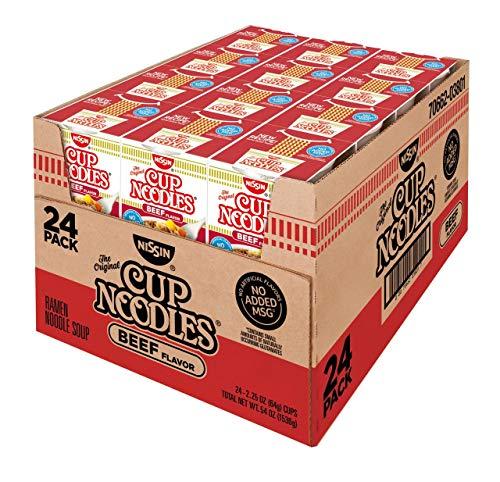 Product of Nissin Cup Noodles Beef Flavor Soup, 24 pk./2.25 oz. [Biz Discount]