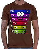Hariz Xylophon - Camiseta divertida para hombre, incluye tarjeta de regalo marrón S
