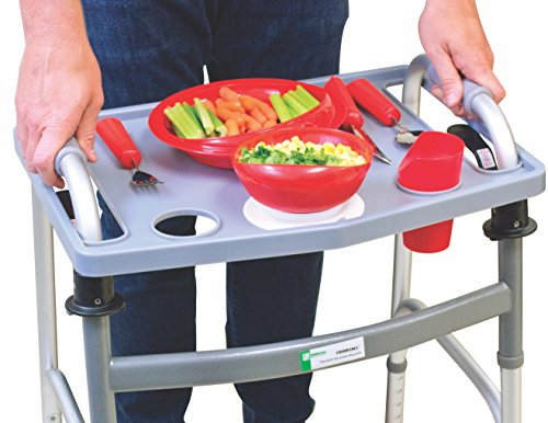 Essential Medical Supply Universal Folding Walker Tray with Cup...