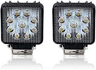 2x 27w 3in Square Mini LED Spot work lights Light Pod Off Road Fog Driving Roof Bar Bumper for Jeep,SUV Truck