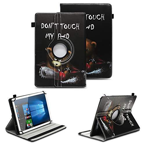 NAUC Schutzhülle kompatibel für Asus ZenPad 10 Z300M Z301ML Z301MFL Tablet Hülle Tasche Standfunktion 360° Drehbar aus Kunst-Leder Cover Universal Hülle, Farben:Motiv 9