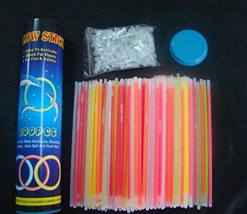 ArturoLudwig 100 Knicklichter 7-farbiges Komplett-Set mit 202 Teilen, Fabrikfrische Qualitätsware - seit 12 Jahren in Markenqualität [Energieklasse A]
