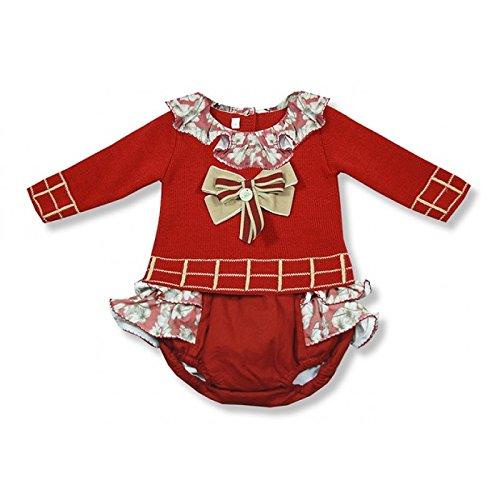 Foque Baby Girls - Traje de punto para bebé, color rojo Rojo rosso 6 Meses