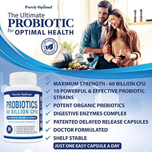 Premium Probiotics 60 Billion CFU with Organic Prebiotics & Digestive Enzymes; Dr. Formulated Probiotics for Women & Men; Shelf Stable Acidophilus Probiotic Supplement, Patented Delay Release Capsules 3