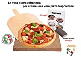 LA VERA Pietra Refrattaria Per Questo è più Cara per Pizza da Forno Comprensiva di Pala ...