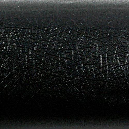 Wallpaper Designer Nail Head Stripe on Dark Navy Black Faux Leather