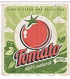 ABAKUHAUS Antiquität Duschvorhang, Vintage Tomaten Poster,