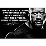 MZCYL Leinwand Malerei Dwayne Johnson The Rock