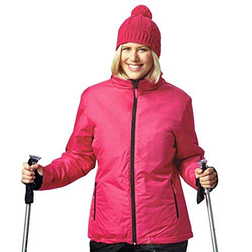 DS Damen Skijacke Snowboardjacke Jacke Winddicht und wasserabweisend Ski Bionic Finish Eco Oeko Tex Rosa (S (36/38))