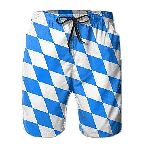 Badehose mit bayerischer Flagge Quick Dry Beach Board Home Wassersport Herren Shorts L.