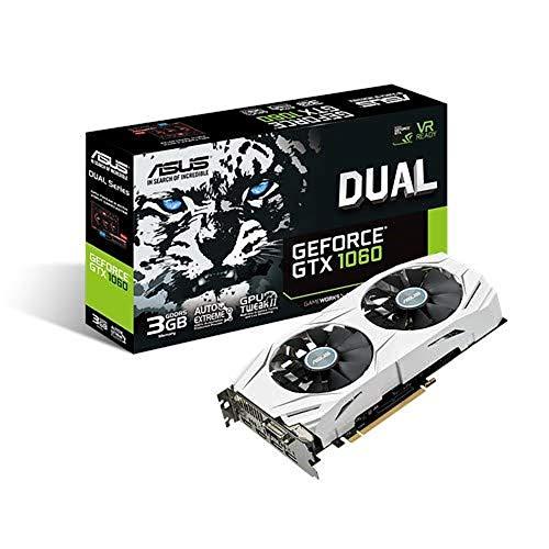 Asus GeForce GTX 1060 DUAL-GTX1060-3G, Scheda Grafica, 3 GB GDDR3, PCI-E3