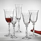Bohemia Cristal Sektglas, Sektkelch 190 ml Champagnerglas Angela 6-er Set mit Gravur