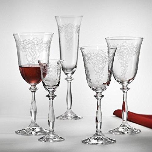 Bohemia Crystal Sektgläser 190 ml Romance (Angela) 6-er Set mit Gravur (190 ml)