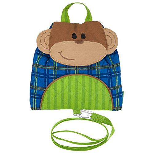 Stephen Joseph Unisex's Little Buddy Bag with Safety Harness Backpacks, Monkey, One Size