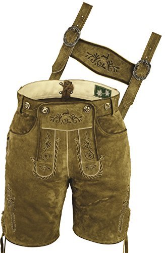 LederGwand - Lederhosen - casual - para hombre Beige marrón claro 60