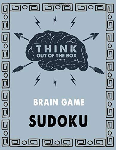 Think out of the box-Brain game Sudoku: Sudoku Puzzles and Solutions-sudoku book for adult