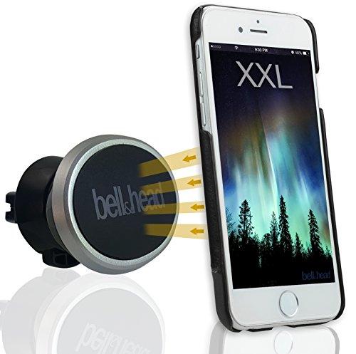 Bell & Head Puck telefoonhouder, XX-Large, zilver, zwart.
