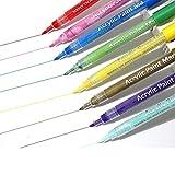 Creativo Rotuladores Brush Pen Policromático Colores Lettering Portátil Rotuladores Acuarelables para Rotuladores Lettering Manga Niño Adulto Colegio Casa 12pcs
