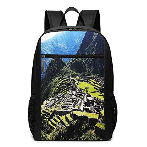OMNVEQ Mochila Escolares Cool Machu Picchu, Mochila Tipo Casual para Niñas Niños Hombre Mujer Mochila para Ordenador Portátil Viaje