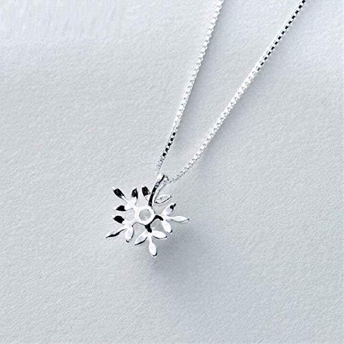 NC190 Collana Dolce Micro-Intarsiato Fiocco Di Neve Semplice Collana Di Gioielli Di Tendenza