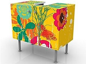 Apalis 53595 Waschbeckenunterschrank Grunge Garden, 60 x 55 x 35 cm