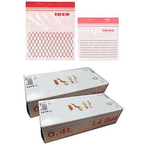 Ikea Istad Gefrierbeutel, Kunststoff, Rot, 120 Stück