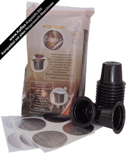 Capsul\'in Befüllbare Kaffee Kapseln für alle Nespresso Maschinen (50 Stk.)
