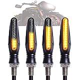 KPGANA 4PCS Clignotants Moto Flowing Mode Clignotants Lumières Indicateurs De Tournage De Moto 12V...
