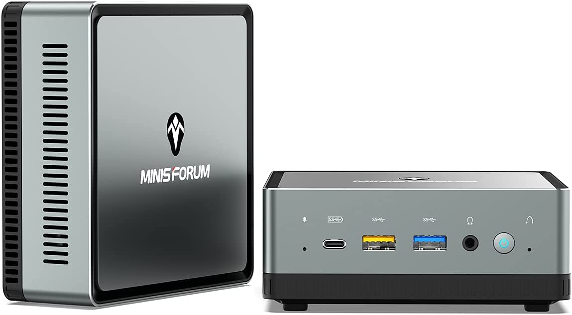 Mini PC AMD Ryzen 7 3750H UM700 | 16 GB RAM 512 GB PCIe SSD | Radeon RX Vega 10 Graphics | Windows 10 Pro | Intel Dual WiFi BT 5.1 | HDMI 2.0 / Display/USB-C | 2X RJ45 | 4X USB Small Form Factor
