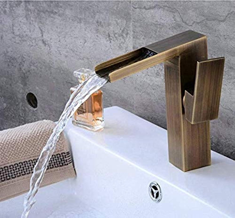 Retro Wasserhahn Küche Fauct Bronze Farbe Modernes Vierkantquadrat schrg ein Loch Wasserfall