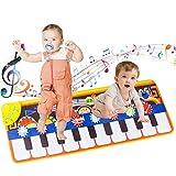 AOYMJRS Alfombrilla Musical, Alfombra para Piano con 19 Teclados Altavoz...