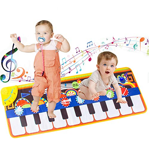 Kids Music Mat, Kids Dance Mat for Baby Toddlers Gifts Piano Mats 1-8 Year...