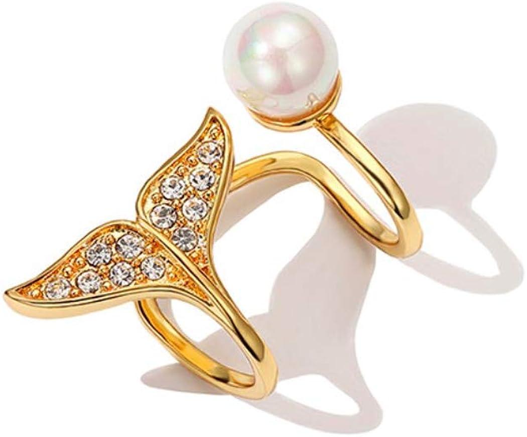 Elegant Mermaid Tail Ear Cuff Climber Earrings Gold Crystal Cartilage Clip on Earring Non Piercing Women Girls
