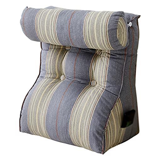 Cuscino per La Testa Triangolare Cuscino del Divano del Soggiorno del Dormitorio Singolo con Schienale Grande Cuscino di Supporto Lombare su Letto Imbottito Morbido E Lavabile A 45X55cm