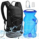 VBIGER Hydration Backpacks with 2L Water Bladder Bag - Large-Capacity Water Bag with 1 Brush |1Replaceable Mouth Piece - for Hiking Biking Running Walking Climbing