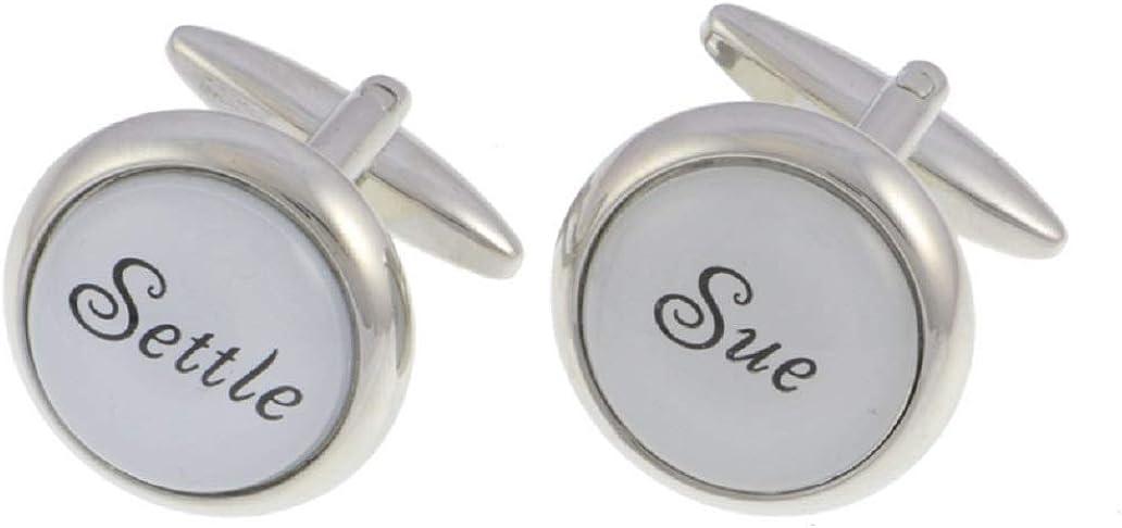 MRCUFF Settle Sue Attorney Lawyer Pair Cufflinks in Presentation Gift Box & Polishing Cloth
