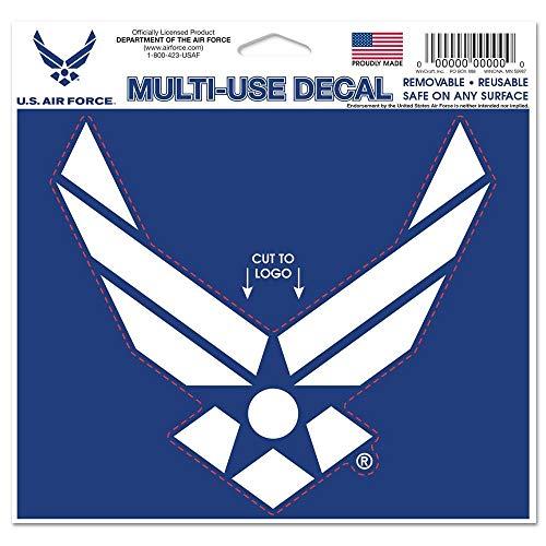 Wincraft Autocollant militaire unisexe 4,5 x 5,75 US Air Force, couleur de l'équipe, 4,5 x 5,75