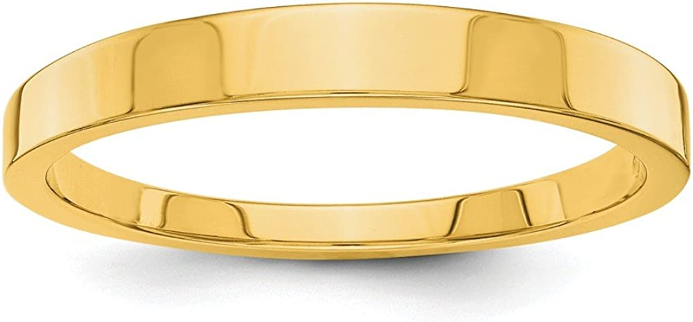 14k Yellow Gold 3mm Tapered Wedding Ring Band Classic Fine Jewelry For Women Gifts For Her