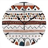 LTBWFDC Reloj De Pared Rayas Desiguales De Doodle Multicolor Creativo con Pilas Silenciosas Dibujadas A Mano para Oficina Y Hogar